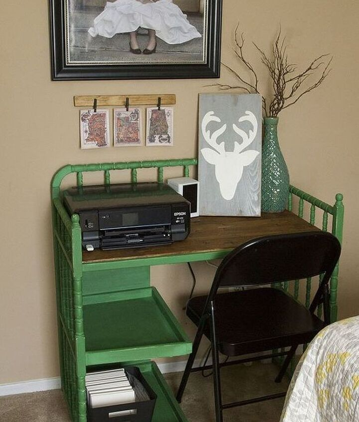 s here s why you shouldn t throw out your old changing table, painted furniture, repurposing upcycling, And it makes a really cool desk