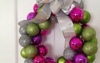 Easy Ornament Wreath for Christmas