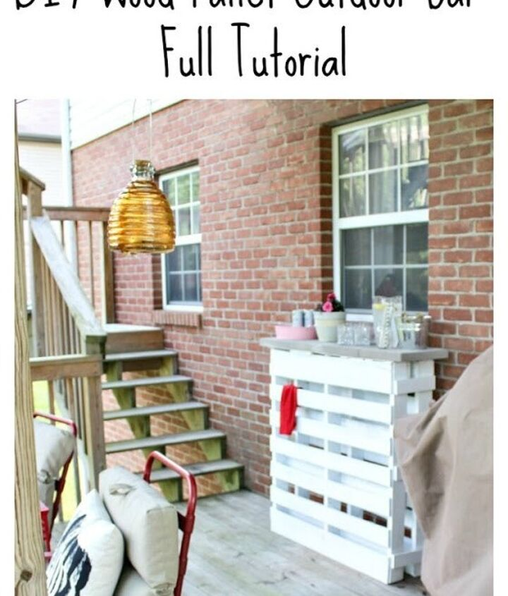 diy wood pallet outdoor bar, how to, outdoor furniture, outdoor living, pallet, repurposing upcycling
