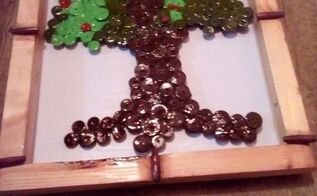 button tree, crafts, painting, repurposing upcycling