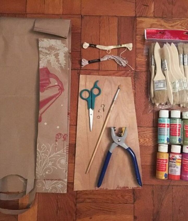 paintbrush mobile, crafts, how to, repurposing upcycling
