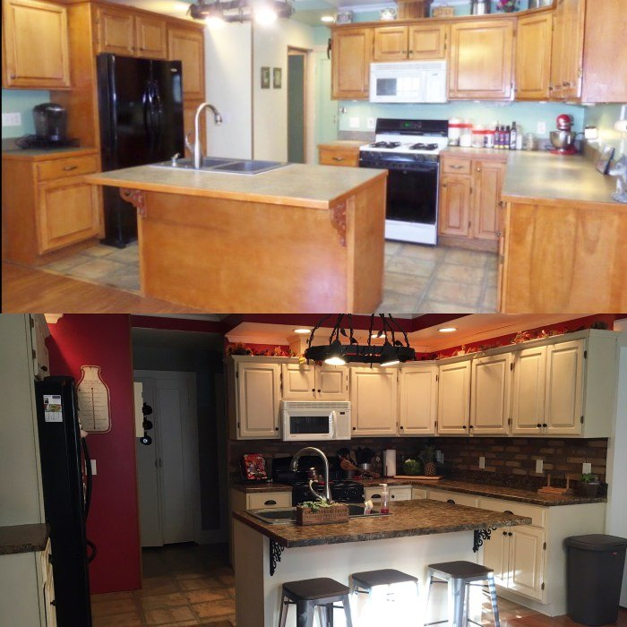 how to renovate your kitchen for under 600, chalk paint, countertops, how to, kitchen backsplash, kitchen cabinets, kitchen design, painting