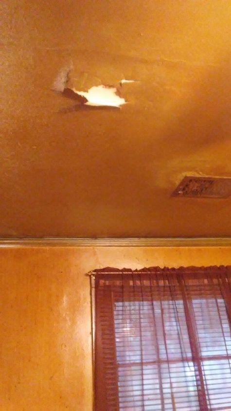 q how can i repair falling sheet rock ceilings , home maintenance repairs, minor home repair, Condensation No roof vent