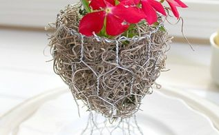 chicken wire planter guest gift idea, container gardening, crafts, gardening, how to