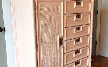 Faux Bamboo Tallboy Painted in Peach and a Pretty Surprise Too