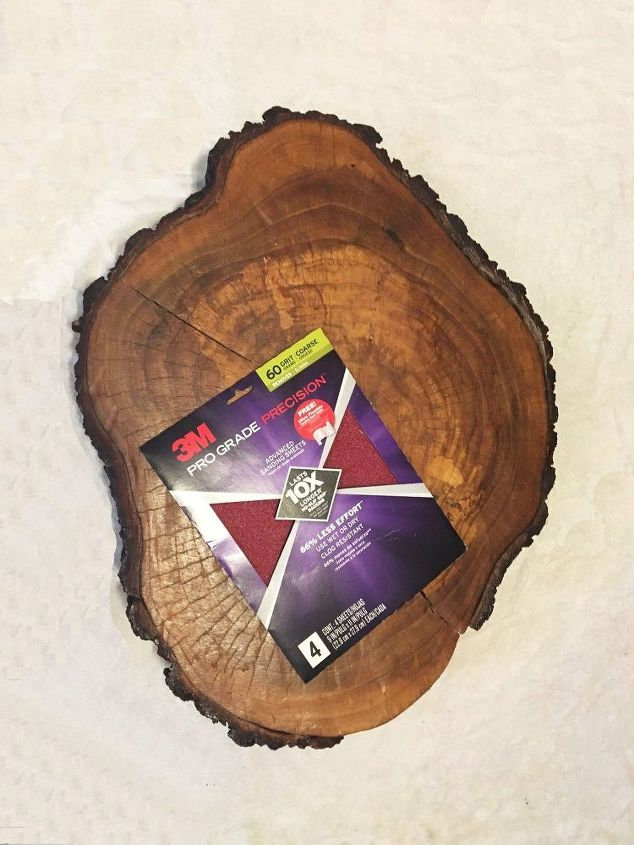 tree trunk dining room tables, crafts, how to, painting, repurpose household items