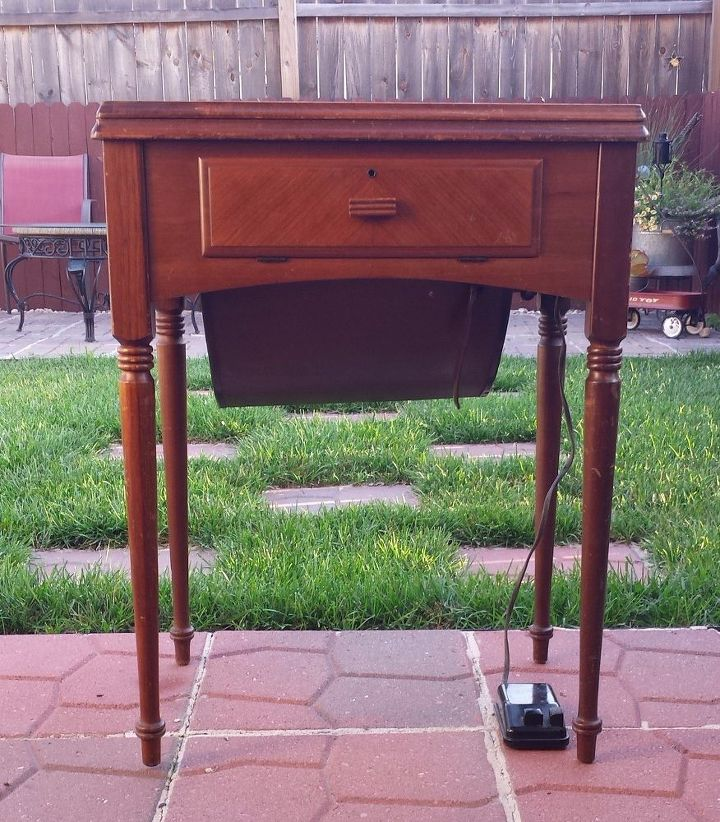 another sewing machine cabinet makeover it s a goodie , how to, painted  furniture, repurposing - Another Sewing Machine Cabinet Makeover....it's A Goodie!! Hometalk