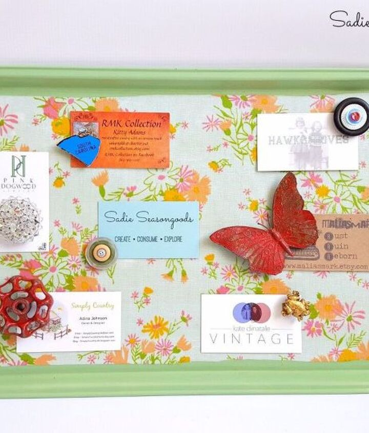 turn a cookie sheet into a magnetic memo board, crafts, decoupage, repurposing upcycling