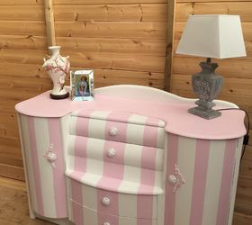 Candy Stripe Sideboard, Chalk Paint, Painted Furniture