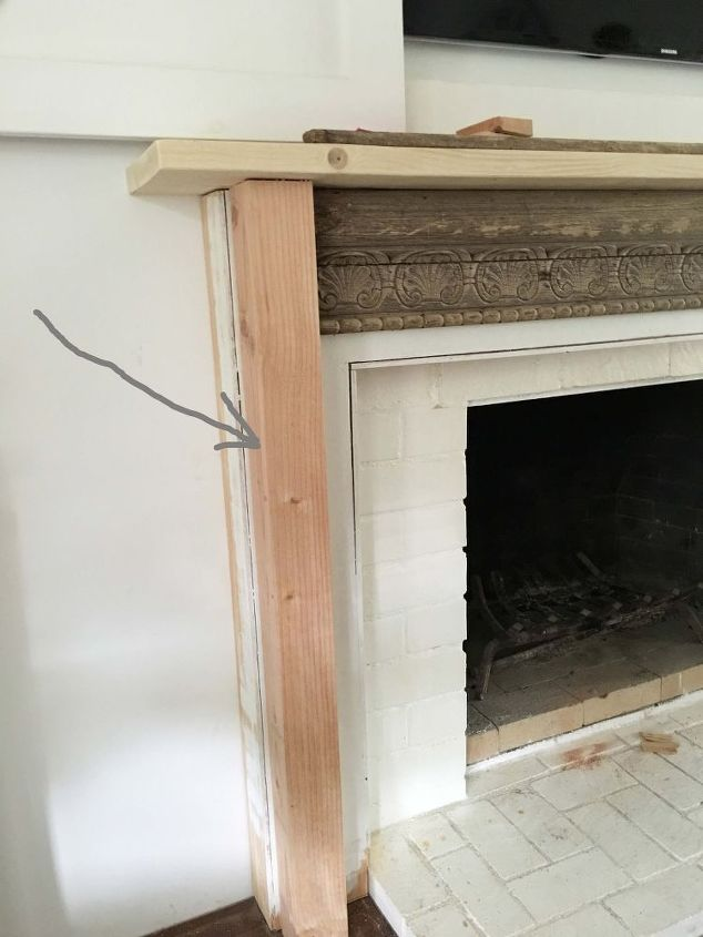 how diy idea after mantel build fireplace mantels room to the
