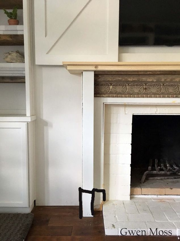 Diy fireplace mantel reveal hometalk diy fireplace mantel reveal fireplace makeovers fireplaces mantels how to painting solutioingenieria Image collections