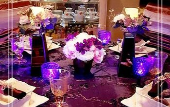 Plum and Pink Tablescape