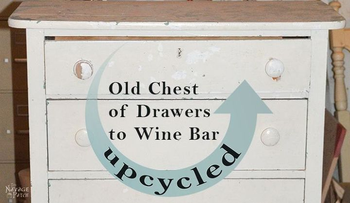 upcycled old chest of drawers to wine bar, decoupage, how to, painted furniture, repurposing upcycling, woodworking projects