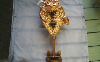 OWL OPENER FROM A KNOT PIECE OFF A TREE