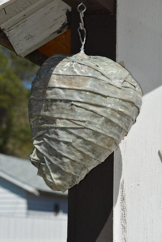diy fake wasp nest, crafts, decoupage, how to, pest control