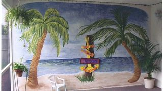 , My daughter painted this on her patio wall when she lived in Palm Beach Gardens FL It was truly beautiful and every body that saw it wanted her to paint one on their patio