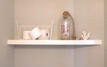 IKEA Lack Hack: Built in Look Shelf...