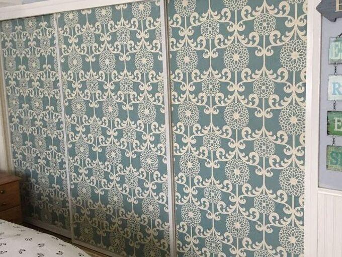 covering mirrored closet doors, bedroom ideas, closet, crafts, doors, how to