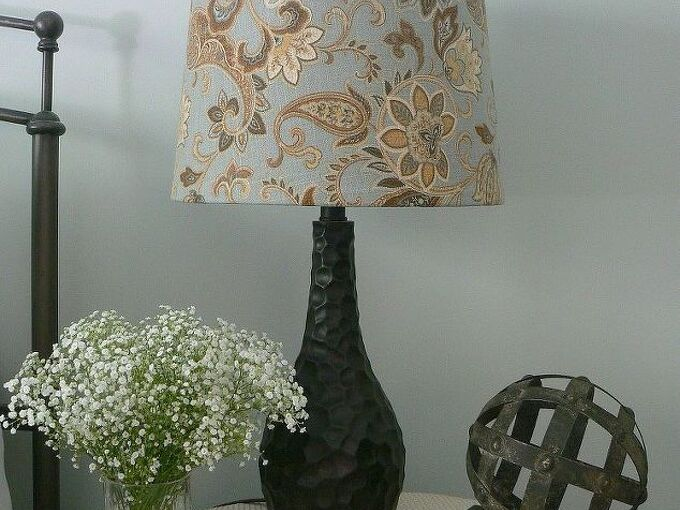 lampshade update, crafts, how to, reupholster
