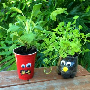 diy monster herb planters, container gardening, crafts, gardening, how to