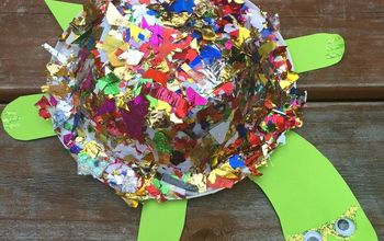 rockstar turtle, crafts, repurposing upcycling