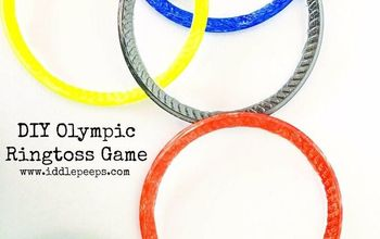 diy olympic ringtoss game, crafts, outdoor living, repurposing upcycling