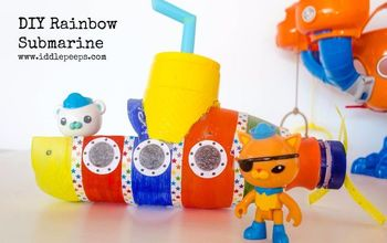 diy rainbow submarine, crafts, repurposing upcycling