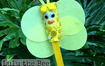 lulu the bee, crafts, repurposing upcycling