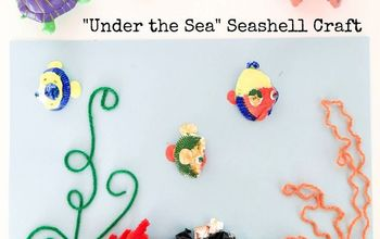 under the sea seashell craft, crafts, repurposing upcycling