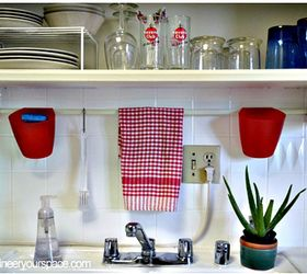 Hang A Tension Rod To Save Counter Space