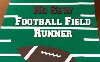 No Sew Football Field Runner Game Day Decor