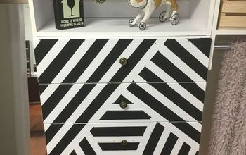 Painted the Drawer Fronts of My New Modular Closet Organizer