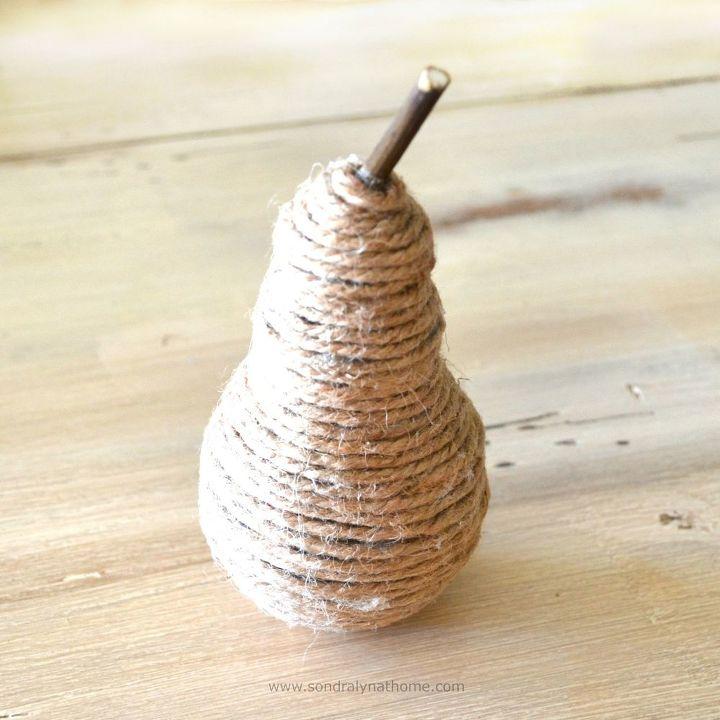 crafts fall decor twine pear lightbulb repurpose, crafts, repurposing upcycling, seasonal holiday decor