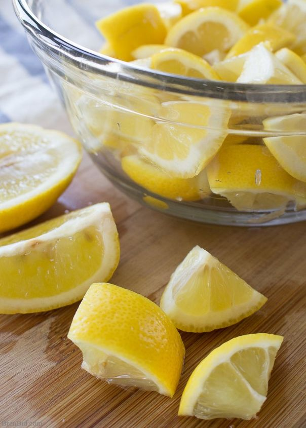 fresh lemon homemade dishwasher detergent, cleaning tips, go green, how to