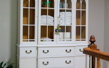 convert a china cabinet to a linen cabinet, organizing, painted furniture, storage ideas