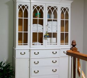 Genial Convert A China Cabinet To A Linen Cabinet, Organizing, Painted Furniture,  Storage Ideas
