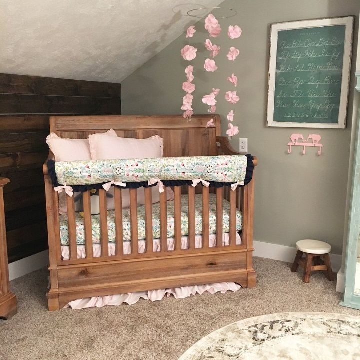 baby girl rustic inspired nursery renovation, bedroom ideas, home improvement, how to