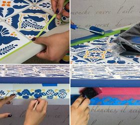How To Stencil A Mexican Talavera Tile Table, How To, Painted Furniture,  Tile
