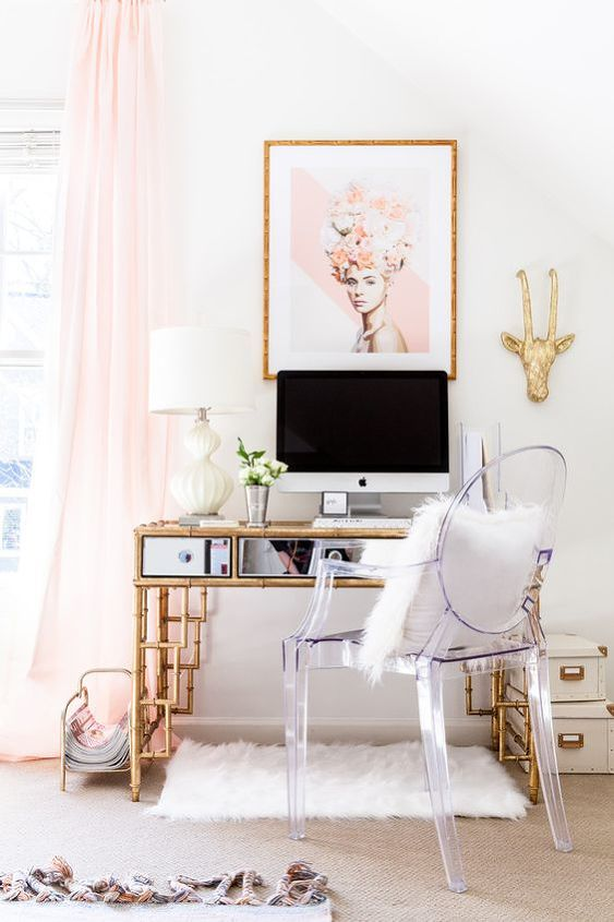 affordable and chic home office in 5 easy steps, home decor, home office, how to, organizing, source Pinterest com