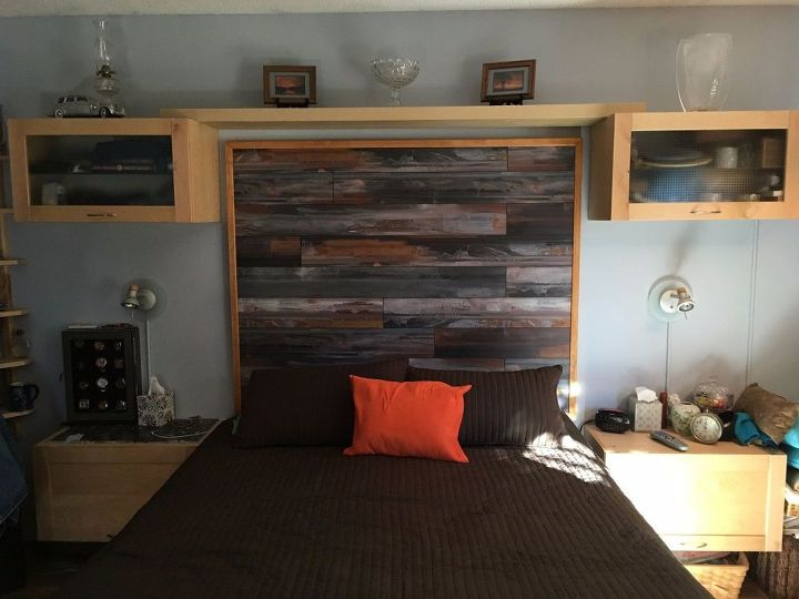 Bed Room Headboard Made With Laminate Flooring Hometalk