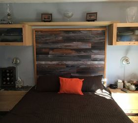 Attrayant Headboard Made With Laminate Flooring, Bedroom Ideas, Flooring