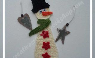 christmas applique snowman, crafts, how to