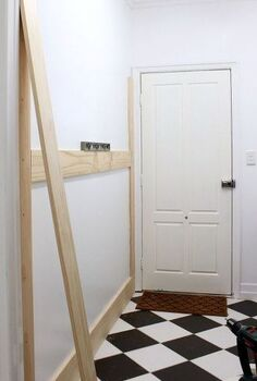 diy board batten mudroom wal, foyer, how to, painting, woodworking projects