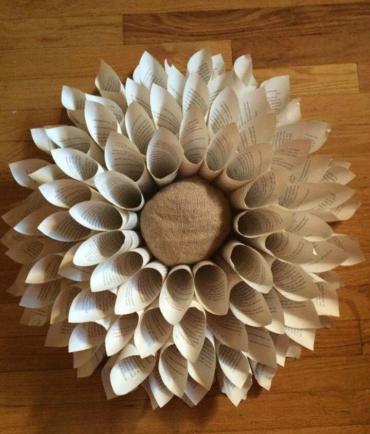 s 13 shocking things you can do with old unwanted books, repurposing upcycling, Or roll them into an open flower