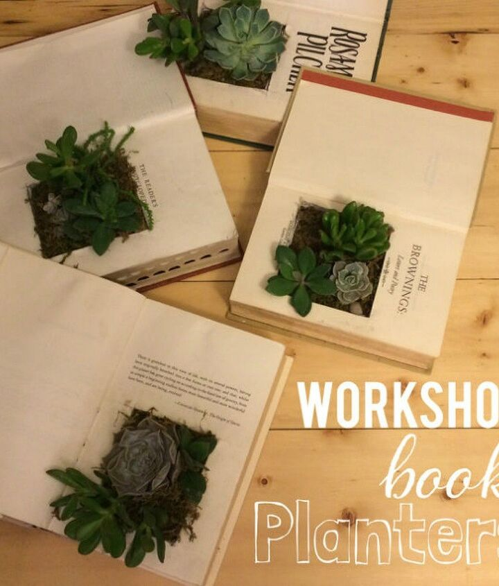 s 13 shocking things you can do with old unwanted books, repurposing upcycling, Turn your book into a succulent planter