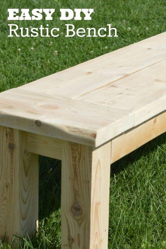 Super Easy Rustic Bench Hometalk