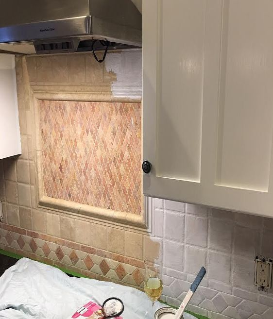 Painting Kitchen Tiles: We Painted Our Kitchen Back Splash