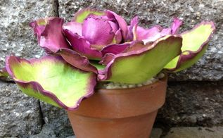 diy faux ornamental cabbage, container gardening, crafts, how to, painting
