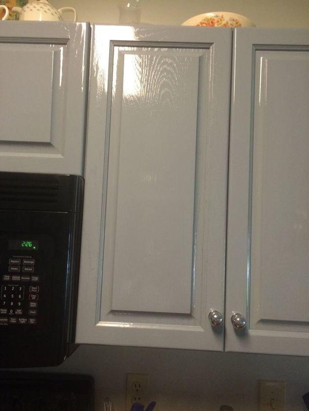 Kitchen cabinets too shiny | Hometalk