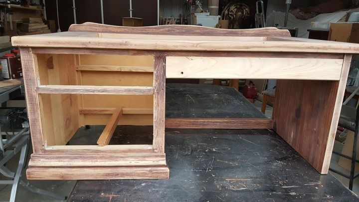 unique sandpit desk, how to, outdoor furniture, painted furniture, repurposing upcycling, woodworking projects